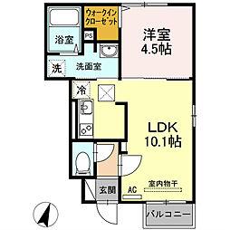 レジデンスIZUMO[1階]の間取り
