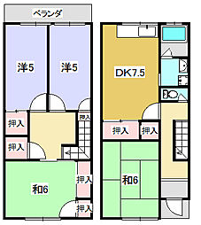 [一戸建] 大阪府枚方市中宮西之町 の賃貸【/】の間取り