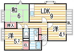 サンガーデン幸A棟[2階]の間取り