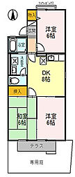 大阪府枚方市招提元町3丁目の賃貸アパートの間取り