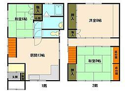 [一戸建] 北海道小樽市奥沢1丁目 の賃貸【/】の間取り