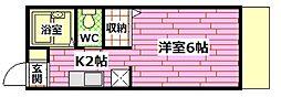 広島県広島市安芸区矢野南5丁目の賃貸アパートの間取り