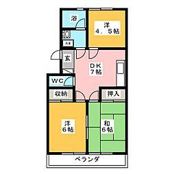 アルファビゼン[2階]の間取り