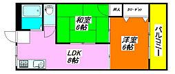 アメニティ深江橋 242号室[4階]の間取り