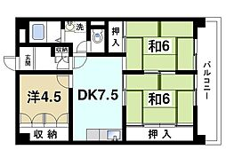 明光第6ビル[4階]の間取り