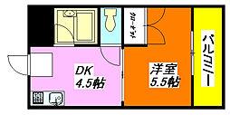 エルドムス・陽光一番館 403号室[4階]の間取り