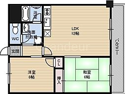 鶴見緑地道端マンション[3階]の間取り