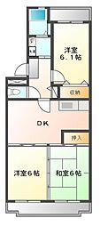 ロイヤルグリーン八千代[2階]の間取り