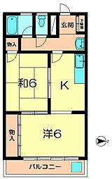 クオリア西大寺[2階]の間取り