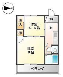名城マンション[3階]の間取り