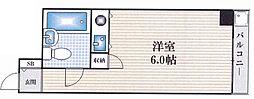 朝日プラザ塚本II[502号室]の間取り