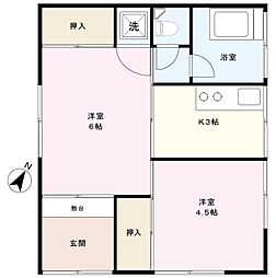冨永アパート[1F号室]の間取り