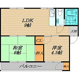 松井マンション[3階]の間取り