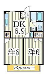 パークハイツII[2階]の間取り