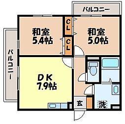 AXIA DAIWA[203号室]の間取り