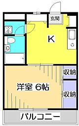 第五荒田ビル[4階]の間取り