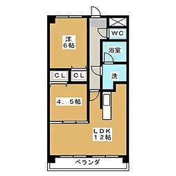 フォ・セート[2階]の間取り