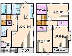 神奈川県横浜市都筑区荏田東3丁目の賃貸アパートの間取り