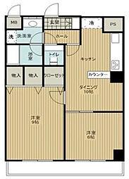コートハイム横浜[6階]の間取り