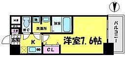ジアコスモ大阪城南2[5階]の間取り