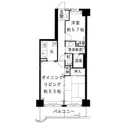 モアステージエルピアザ荒川沖202号室[2階]の間取り