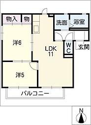 ロイヤル・コートA[2階]の間取り