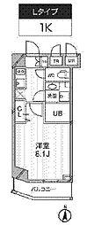 新築 レクシード武蔵関駅前[102号室号室]の間取り