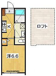 PACIFIC OCEAN KOZU[B5号室号室]の間取り