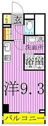 ART APARTMET IN TOKYO NORTH 2階ワンルームの間取り