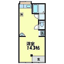 長崎県長崎市三原1丁目の賃貸アパートの間取り