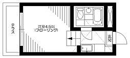 東京都杉並区和田3丁目の賃貸アパートの間取り