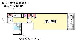 ウノ・アンビエンテ湊川[8階]の間取り