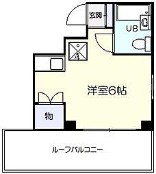 プラムマンション[402号室]の間取り