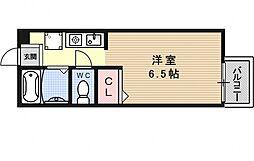 セジュール大宅[205号室号室]の間取り