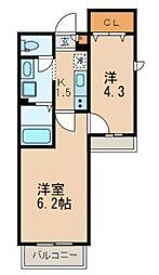 大田区本羽田1丁目計画 bt[203kk号室]の間取り