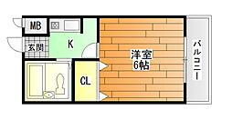 ハイツタキダニI[2階]の間取り