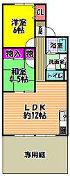 リブセジュール[1階]の間取り