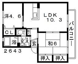 バリュージュ・ミヤビ[B101号室号室]の間取り