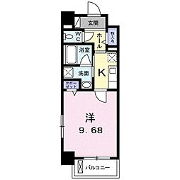 高松琴平電気鉄道琴平線 三条駅 徒歩11分の賃貸マンション 7階1Kの間取り