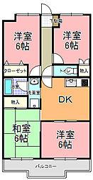 末広マンション[303号室]の間取り