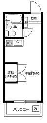 サンハイツ日野[B202号室]の間取り