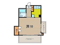 若草ハイツ[502号室]の間取り