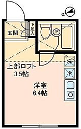 AMMS OKAMURA[B102号室]の間取り