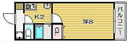 エクサンプロヴァンス[3階]の間取り