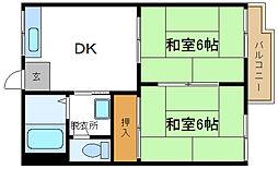 ハイネス辻[2階]の間取り