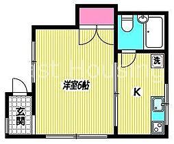 東京都中野区大和町2丁目の賃貸アパートの間取り