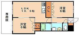 福岡県飯塚市椿の賃貸アパートの間取り