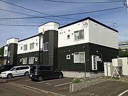 北海道札幌市南区石山一条2丁目の賃貸アパートの外観