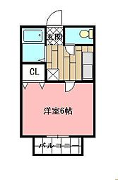 MOON朝日ヶ丘 A棟[206号室]の間取り