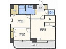 北海道札幌市中央区南十七条西7丁目の賃貸マンションの間取り